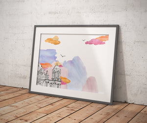 Berlin Cathedral Daytime - Berlin - Poster A4/A3 - Architecture, Art.