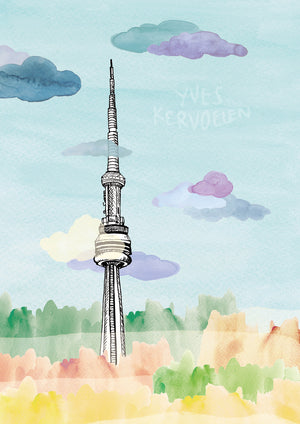 Poster of Toronto's Tower // A4/A3 // Architecture, Art.