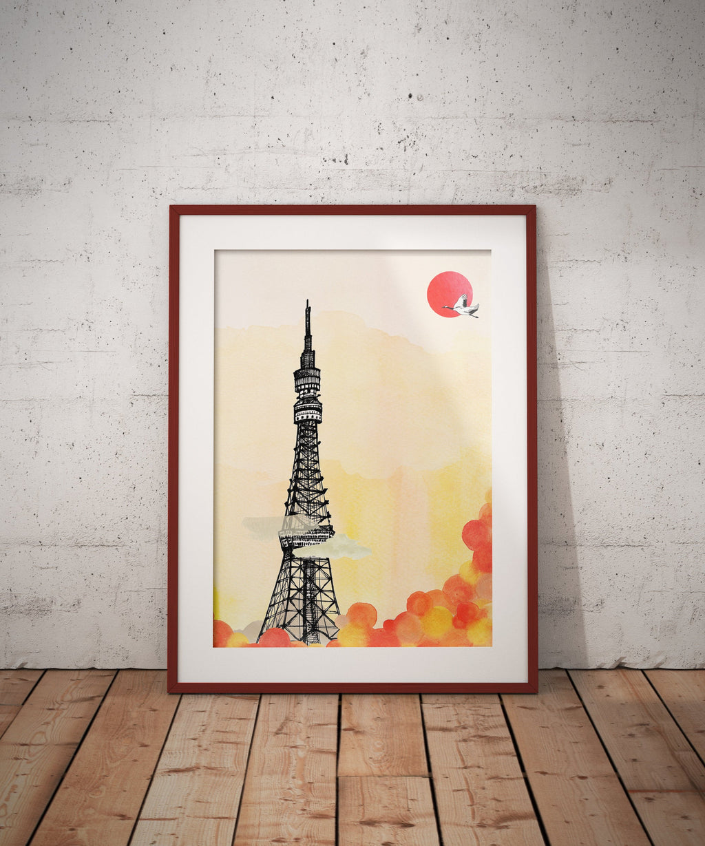 Tokyo Tower (Taro Tokyo) // A5-A2 // Poster, Architecture, Art.