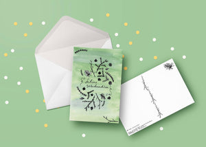 Christmas and New Year Greeting Cards Set of 5/10