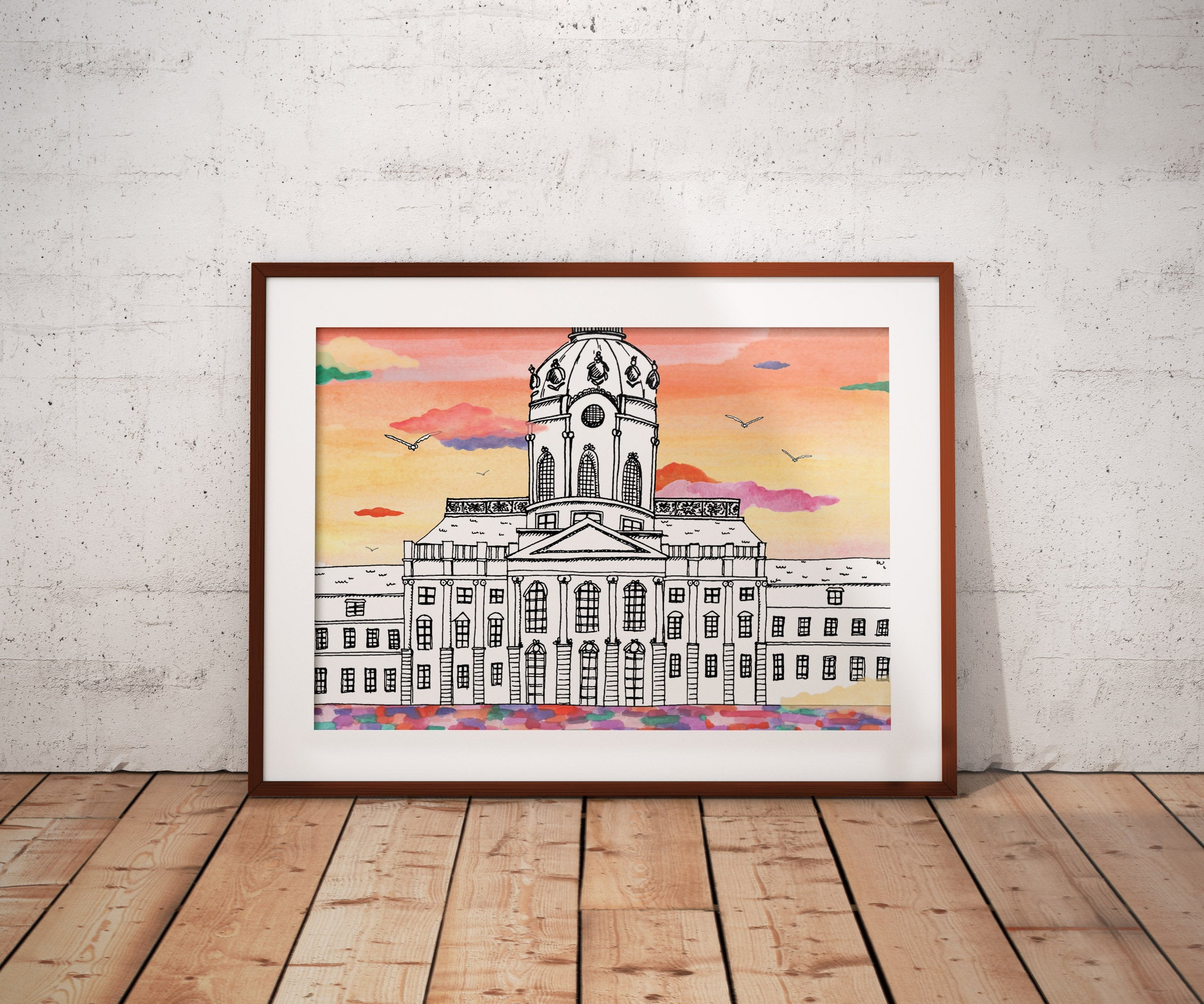 Berlin Schloss Charlottenburg  - Berlin - Poster A4/ A3/ A2 - Architecture, Art.