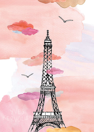 Eiffel Tower - Paris - France // A4-A3 // Poster, Architecture, Art.