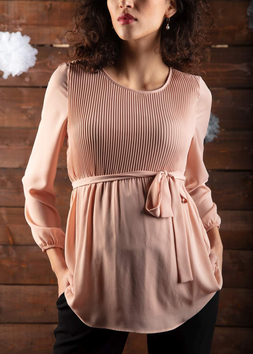 Giorgia Pleated Maternity Top