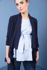 Sasha Cashmere and Wool Drape  Cardigan