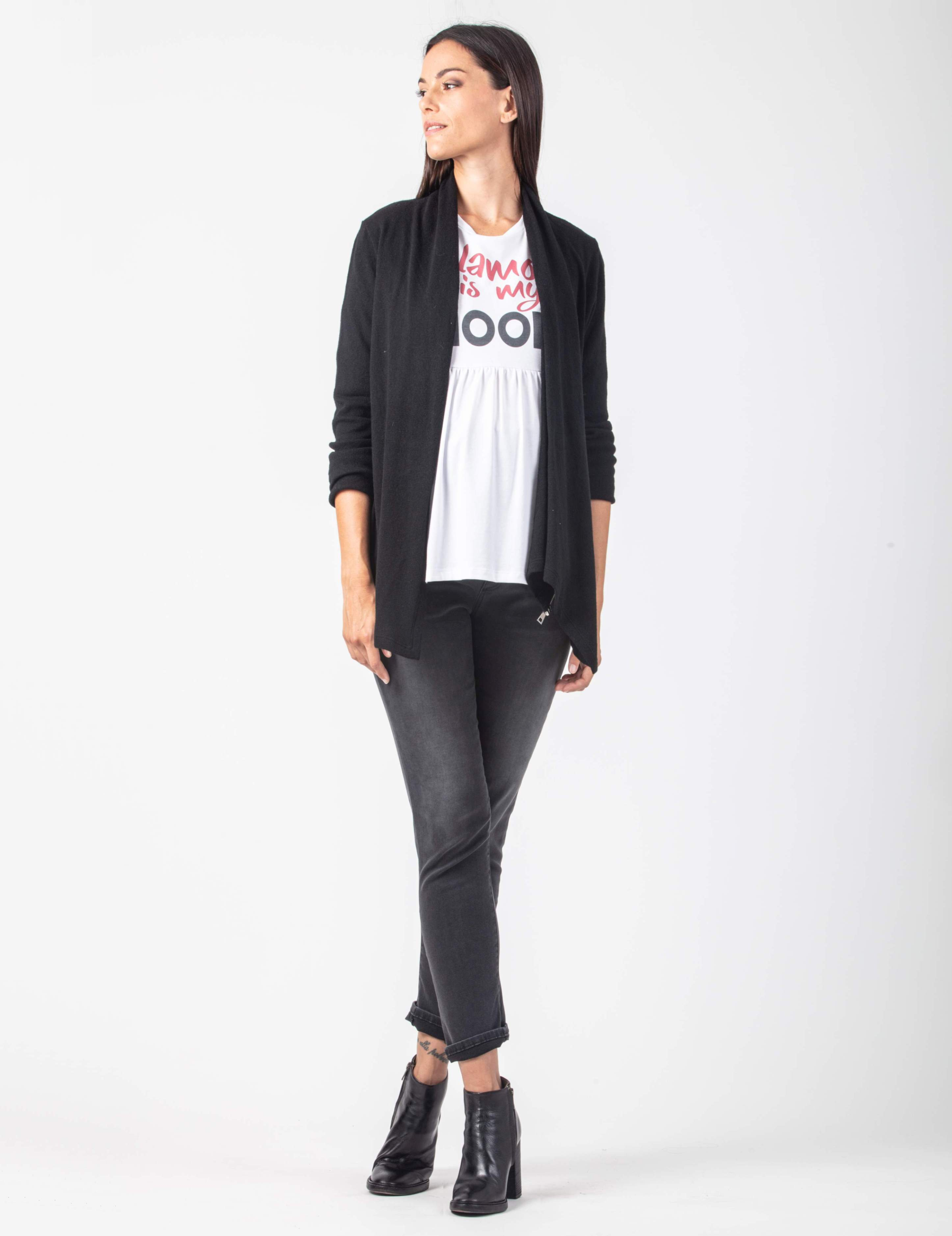 Silvia Wool and Cashmere Wrap Cardigan