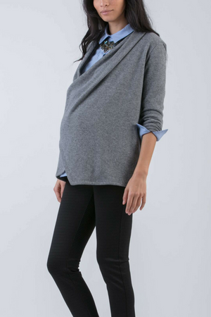 Silvia  Cashmere and Wool Wrap Cardigan