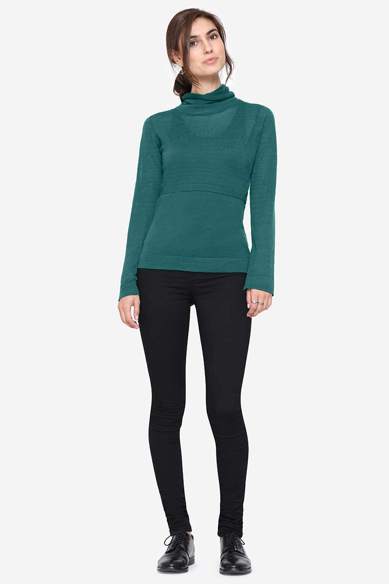 Ayodela Roll-Neck Merino Wool Sweater