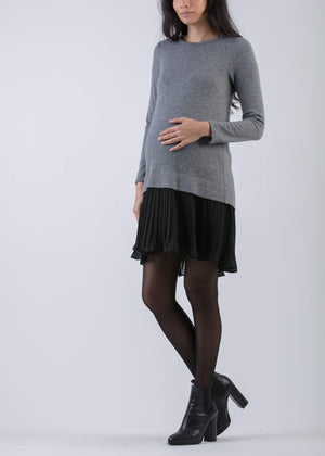 Bettina Cashmere and Chiffon Dress