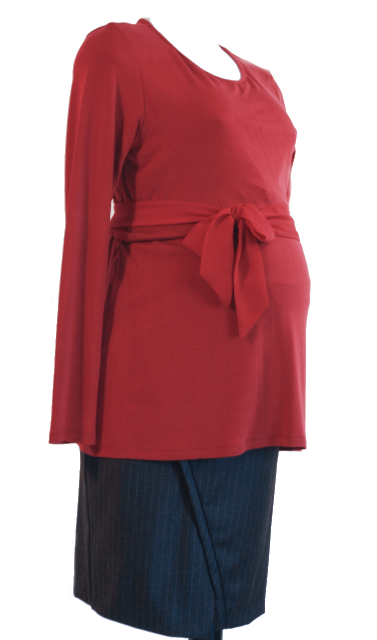 Anita Jersey Nursing Top with Chiffon Tie