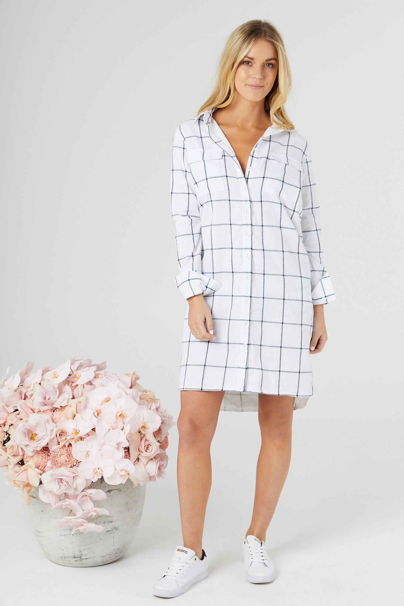 Chek Shirt Dress
