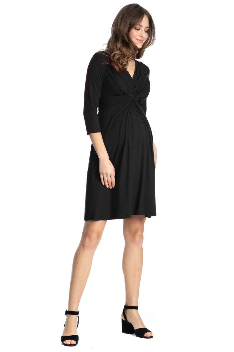 madonna classic maternity and nursing dress jersey black