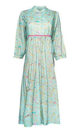 Annabel Organic Cotton Maxi Dress - blossom birds