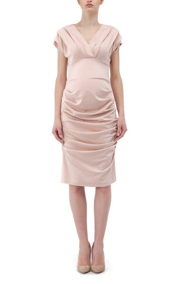 Paola Ruche Dress - Petal