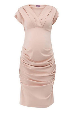 Paola Ruched Body-Con Dress - Petal