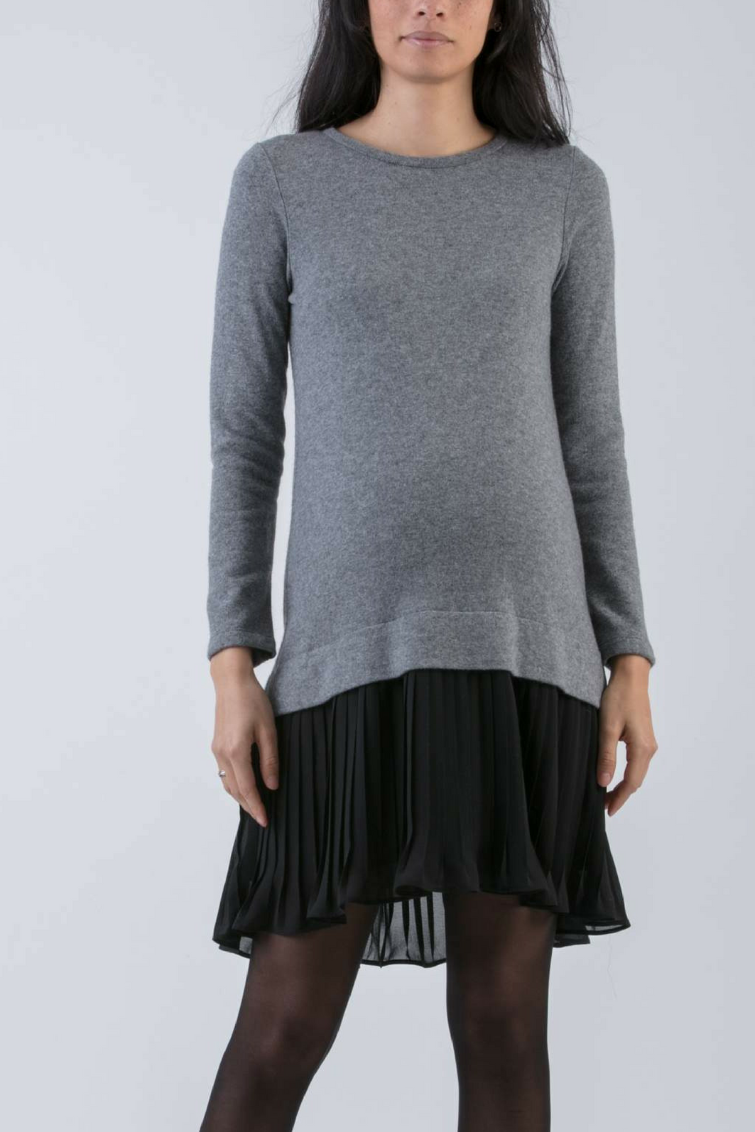 Bettinaa Cashmere and Chiffon Dress