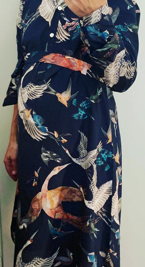 Bryoni Wild Birds Shirt Dress