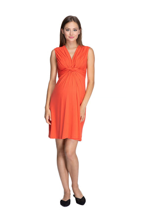 Papaver Knot Dress, Coral