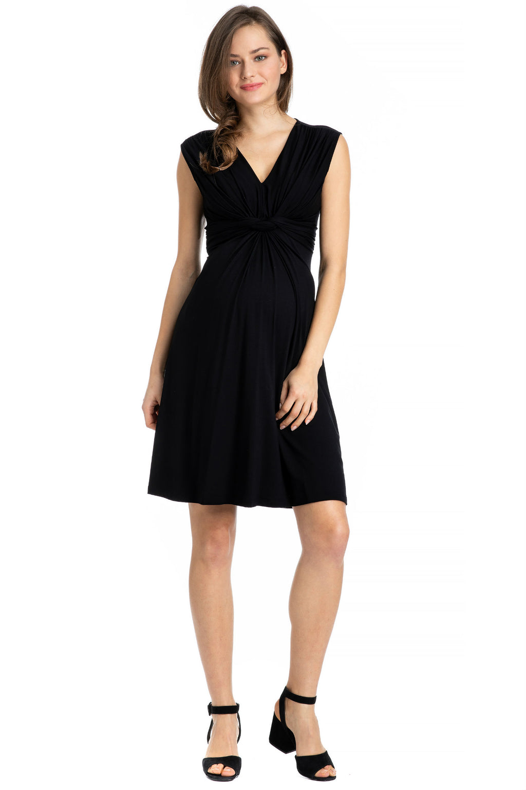 Papaver Knot Dress, Black