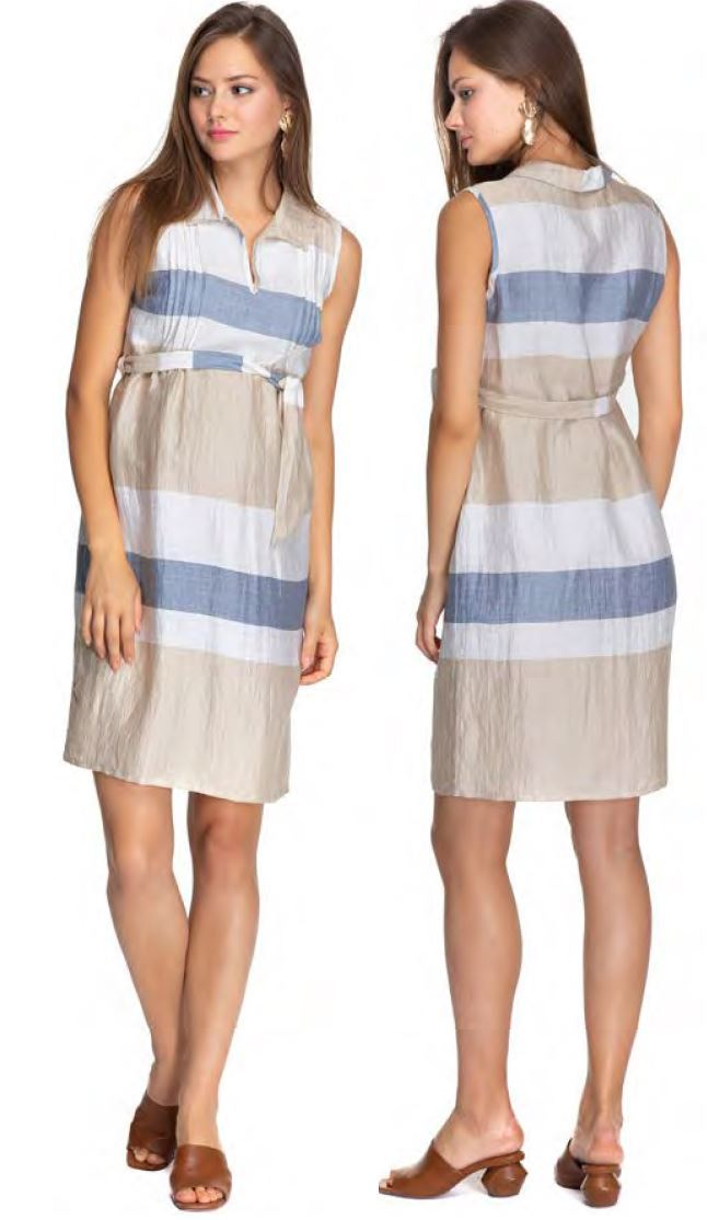 Sorrento Linen Sleeveless Dress