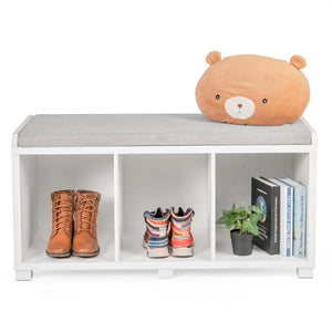 Modern Three Cube Storage Bench