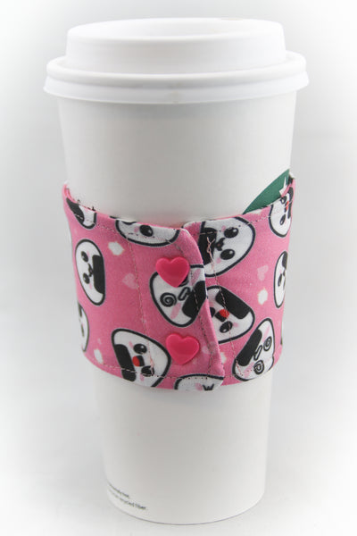 Pink Onigiri Coffee Cup Cozy