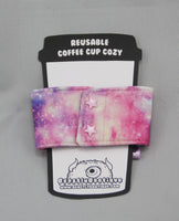 Pink Galaxy Coffee Cup Cozy