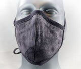 Gray Wash Fitted Fashion Face Mask