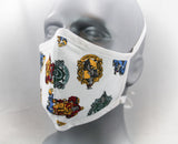 Wizarding Houses Fitted Fashion Face Mask