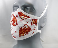 Griffin Tie-Back Fashion Face Mask