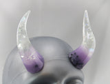 Taro Bubble Tea Specialty Color Cast Resin Horns