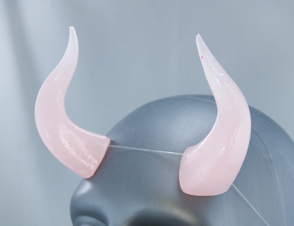 Pastel Pink Specialty Color Cast Resin Horns