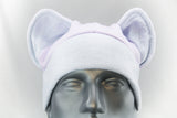 Pastel Lilac and Blue Cat Ear Hat