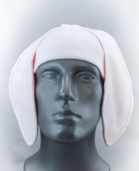 White and Pink Long Rabbit  Ear Hat