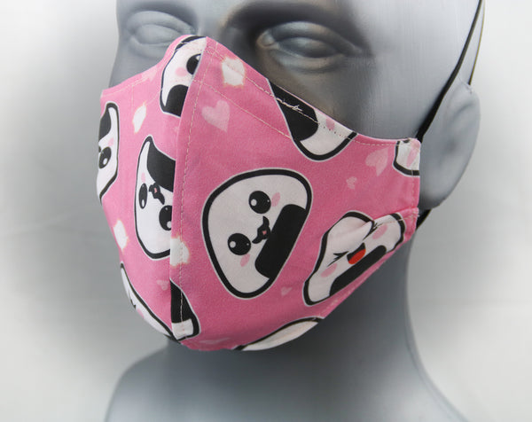 Onigiri Elastic Ear Loop Fitted Fashion Face Mask