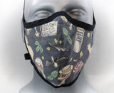 Plague Doctor Fitted Fashion Face Mask with Ties