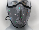 Kawaii Robots Fitted Fashion Face Mask with Ties