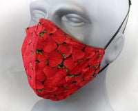 Strawberry Elastic Ear Loop Fitted Fashion Face Mask