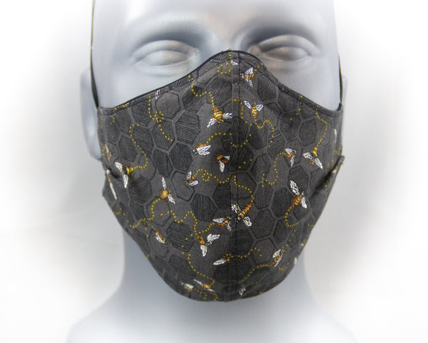 Honey Bee Elastic Ear Loop Fitted Fashion Face Mask