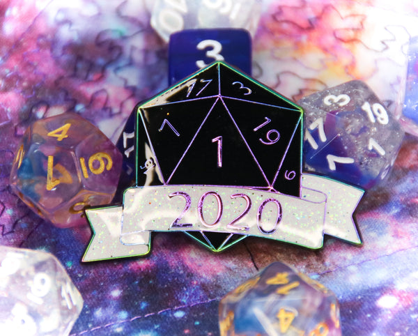 Critical Failure 2020 Soft Glitter Enamel Pin