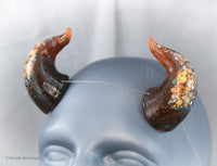LIMITED EDITION Glow-in-the-Dark Halloween Specialty Color Cast Resin Horns