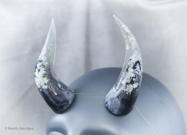 LIMITED EDITION Glow-in-the-Dark Haunted House Specialty Color Cast Resin Horns