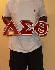 "Delta Sigma Theta Sorority - 22"" (Inch) BIG BLOCK LETTERS (Painted)"