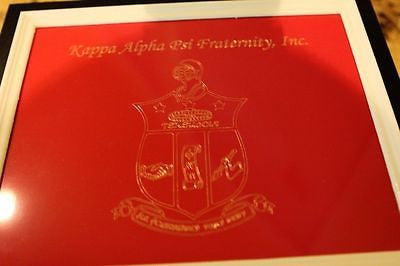 Kappa Alpha Psi Fraternity - Cigar Humidor (Coat of Arms Engraved) - Holds 40-50 Cigars