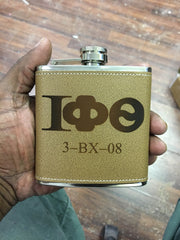Iota Phi Theta Cigar Carrier (Leather Personal) - Custom