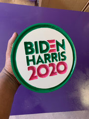 Biden - Harris Round 2020 Wood Plaque