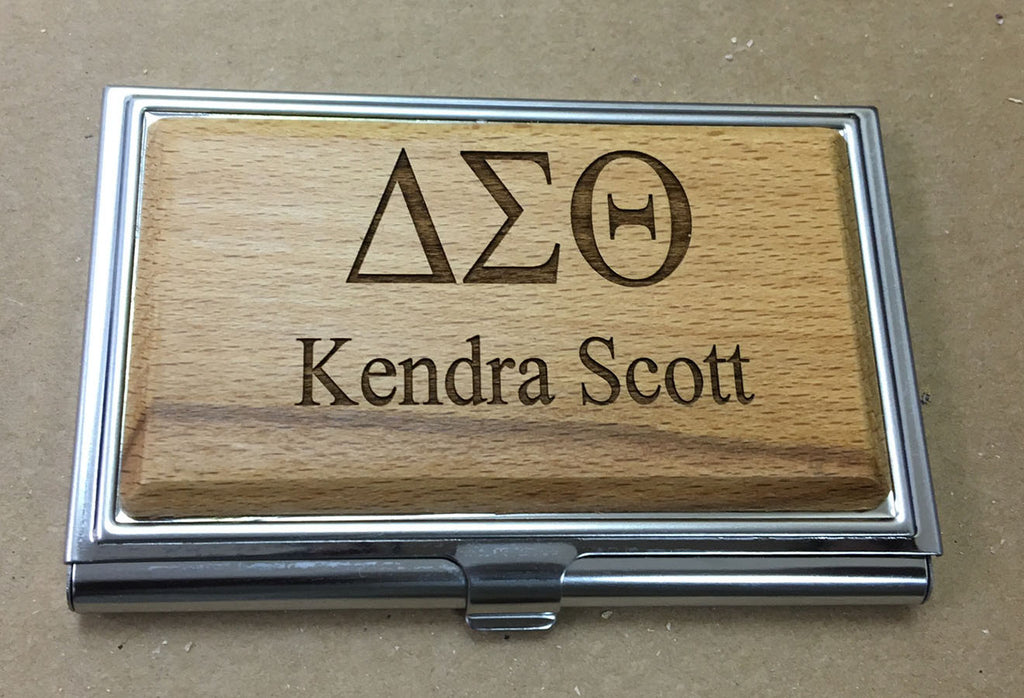 Delta Sigma Theta - Wooden Business Card Holder – Creative CNC ...