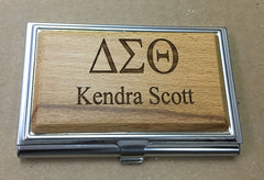 Delta Sigma Theta - Wooden Business Card Holder