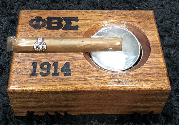 Phi Beta Sigma Fraternity - Cigar Ashtray (Mahogany) - Small