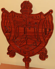 "Sigma Gamma Rho - Crest 20"" Tall (Stained)"
