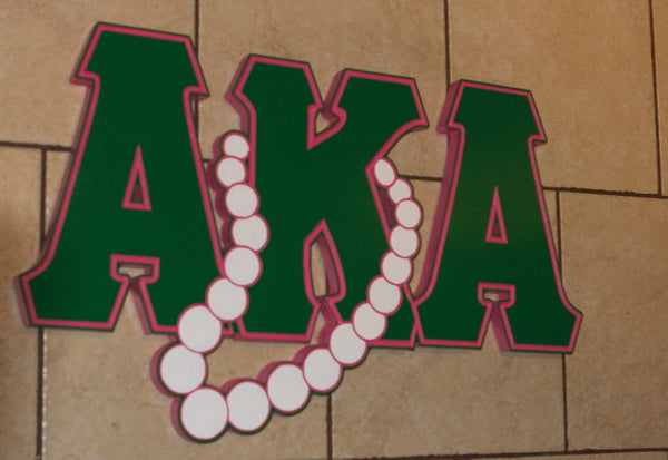 "Alpha Kappa Alpha - Pearly Greek Letters 26"" Wide"